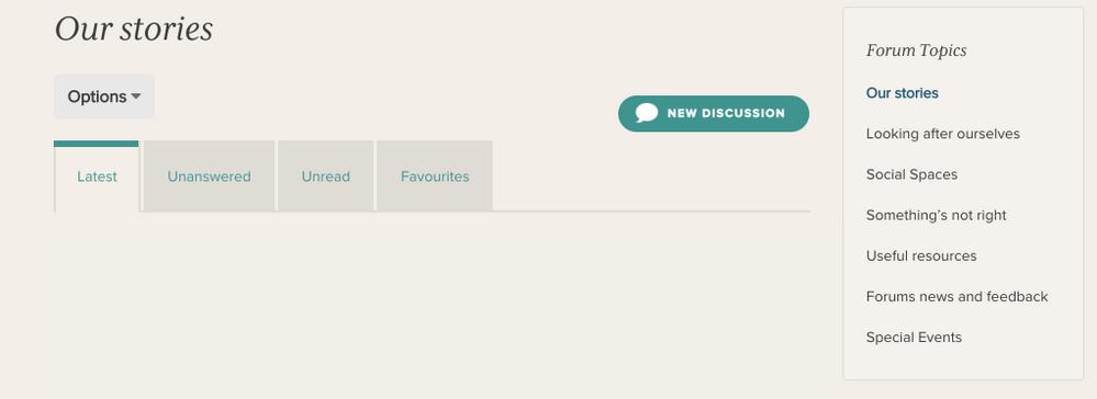 Forum topics navigation
